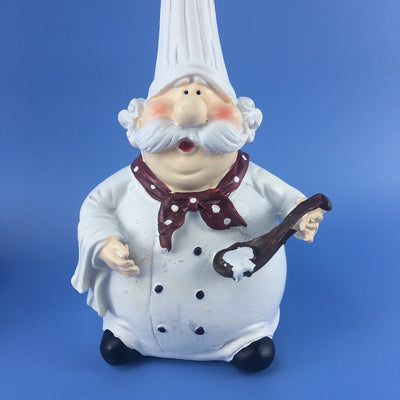 Chef Figurines Resin Statue High Hat Art Creative Craft Gift