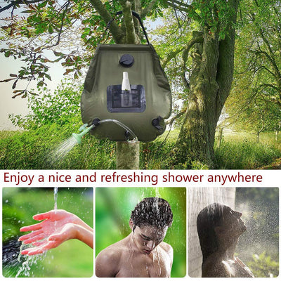 Outdoor Solar Heating Camping Shower Bag 20L