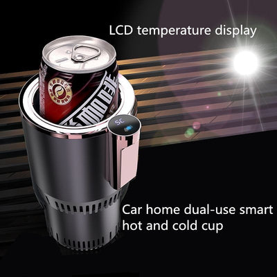 Portable Heating Cooling Cup LED Display Touch Screen Gadget For Car