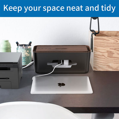 Wire Organizer Anti Dust Cable Management Box with Holder for Desktop
