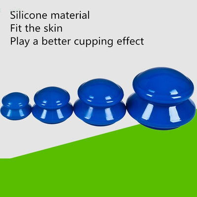 Set 4 Sizes Vacuum Cupping Therapy  Silicone Suction Cups For Massage