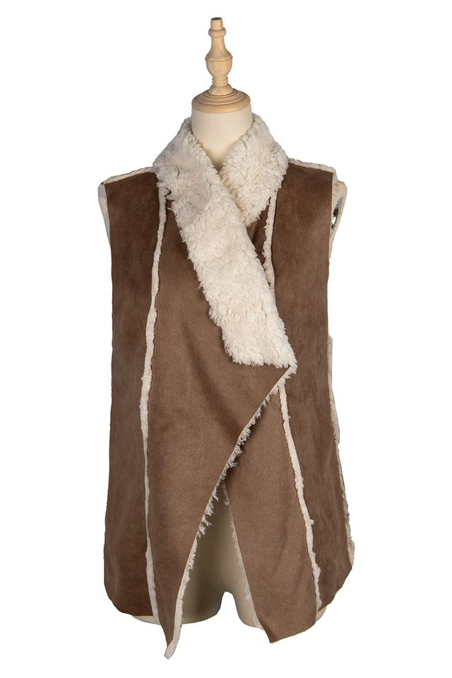 Suede Double Sided vest