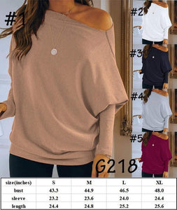 Dolman sleeve solid top