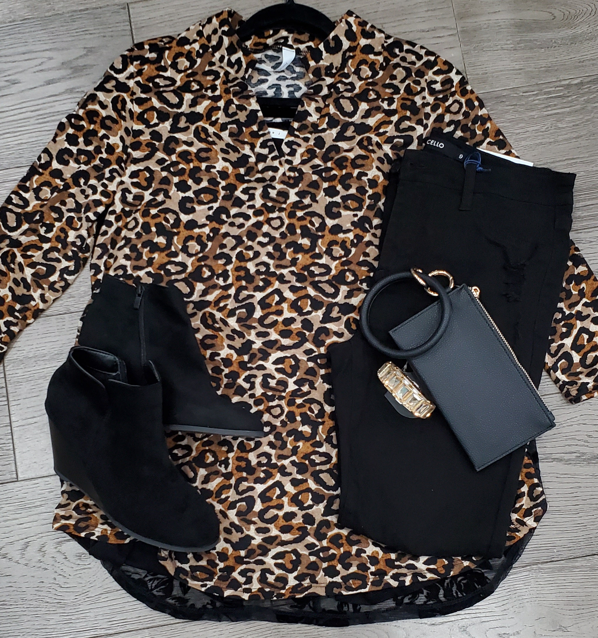 Leopard and Lace Top