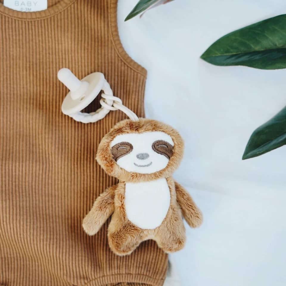 Sloth Plush and Pacifier