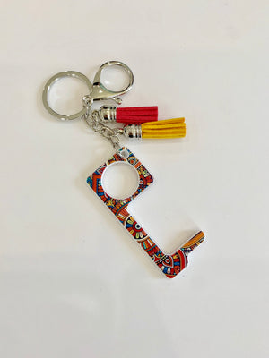Hands free key ring with tassels