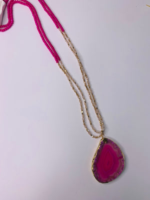 Long Necklace with a Gorgeous stone pendant
