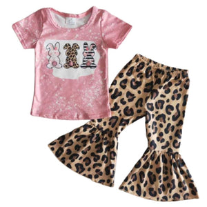 Leopard and Bunnies Kids Outfit