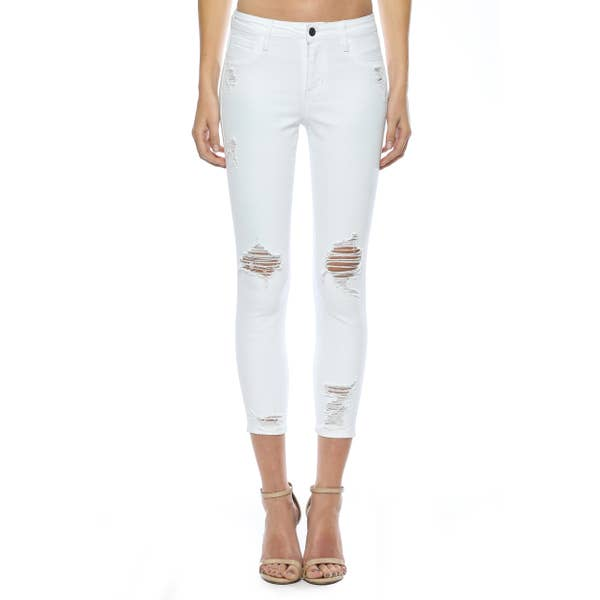 Cello Distressed Crop Skinnies