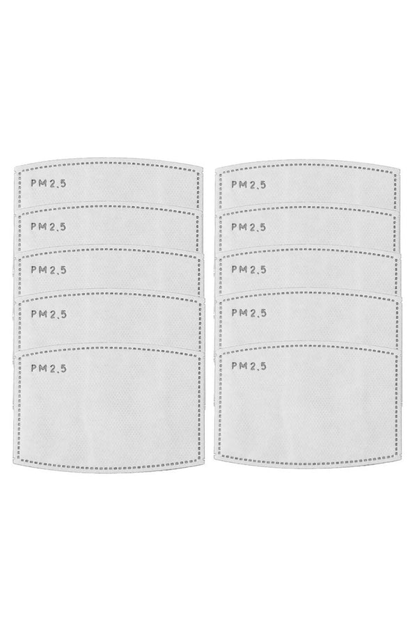 PM-2.5 Replacement Pad 5-Ply Activated Carbon Respirator Filter Sheet