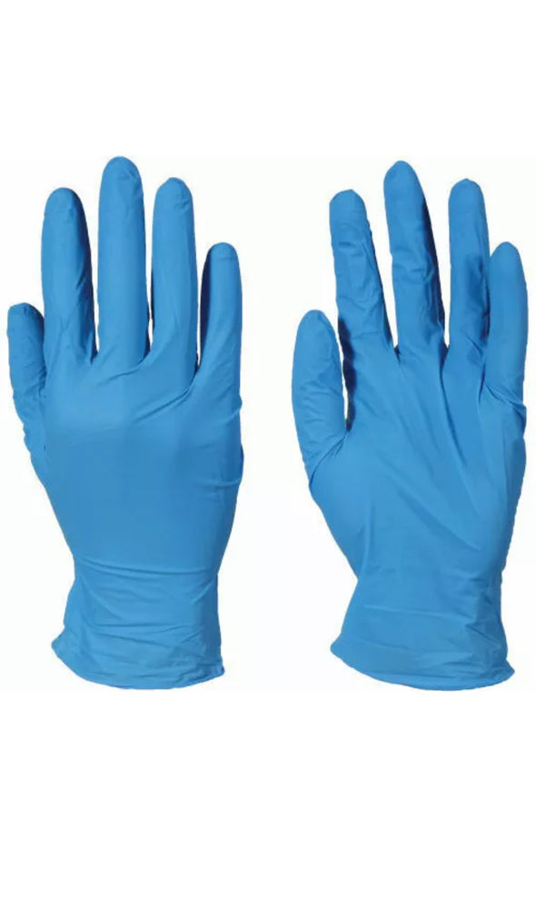 Blue Medical Nitrile Exam Latex Free Disposable Gloves 100PC