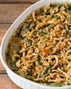 Green Bean Casserole with Garlic Parmesan Walnuts