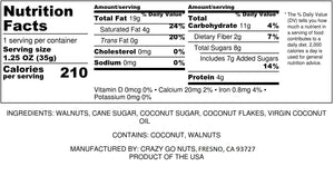 1.25 oz. Coconut Walnut Snacks