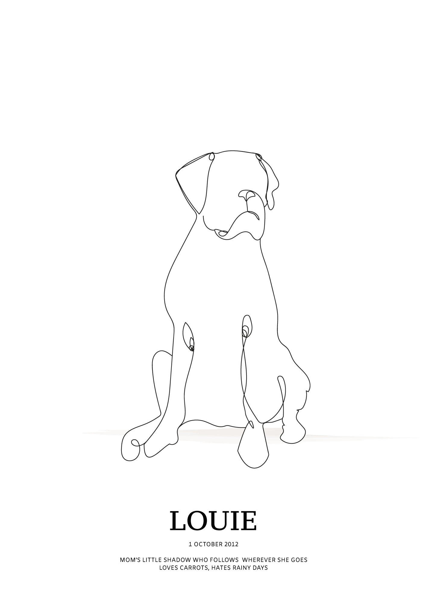 Boxer sitting (docked tail)