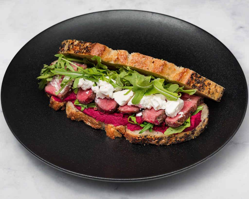 Beef & Beets on Sourdough - The Hungry Mind