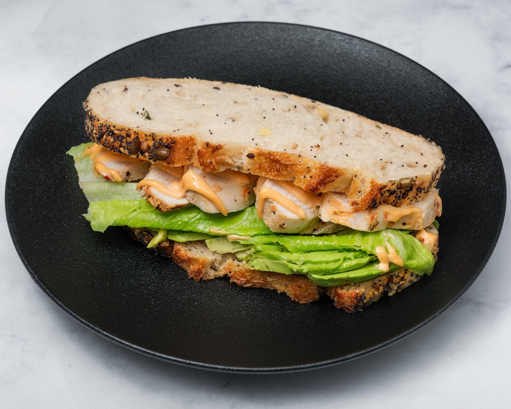 Coconut Chilli Chicken Sourdough Sandwich - The Hungry Mind
