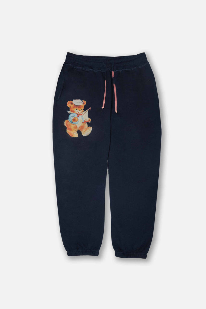 Navy Bear Sweatpants