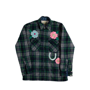 Rhinestone Flannel Jacket