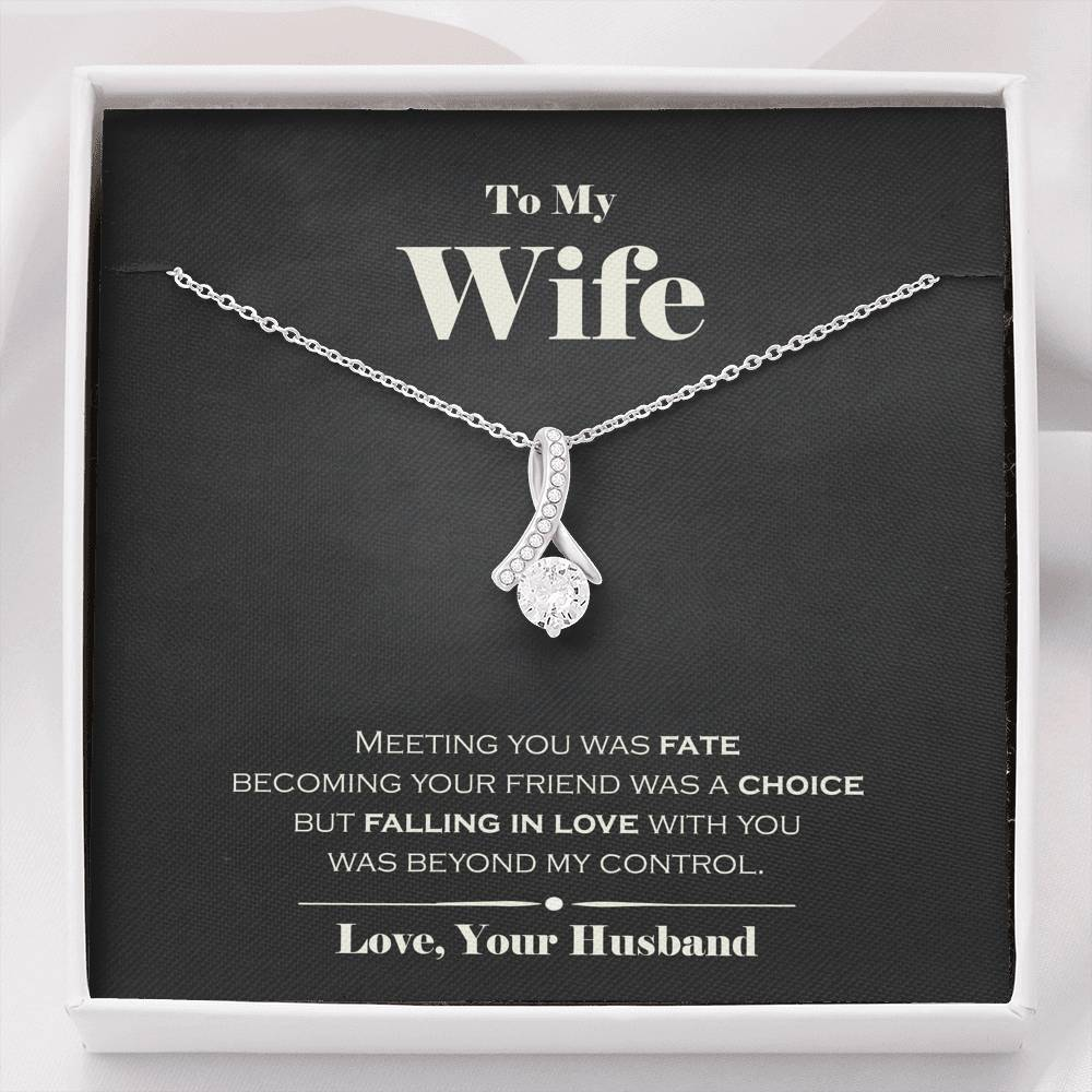 To My Wife Fate Necklace