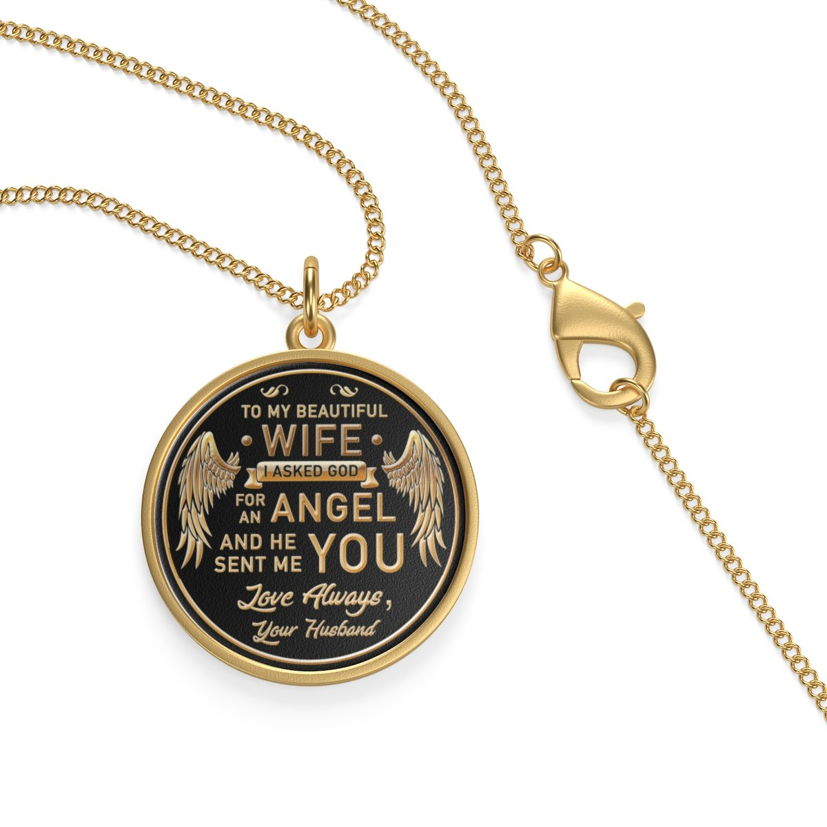 To My Wife God Sent Me You Necklace