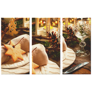 Holiday Dinner Canvas 3-Print-Set