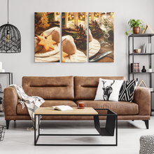 Load image into Gallery viewer, Holiday Dinner Canvas 3-Print-Set