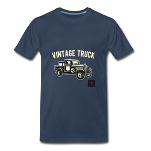 Vintage Mobile T-Shirt - navy
