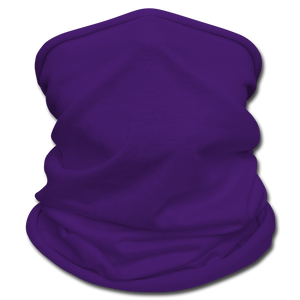 Black Face Mask/Scarf - purple