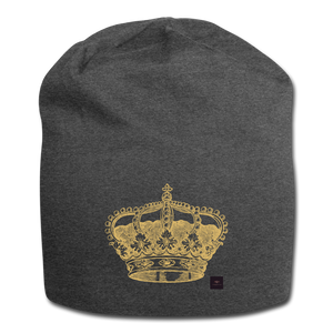 Crown Beanie - charcoal gray