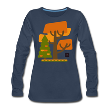 Load image into Gallery viewer, Falling Into Autumn Long Sleeve Tee - navy