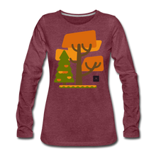Load image into Gallery viewer, Falling Into Autumn Long Sleeve Tee - heather burgundy