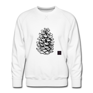 Pinecone Madness Sweatshirt - white