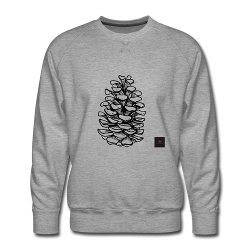 Pinecone Madness Sweatshirt - heather gray
