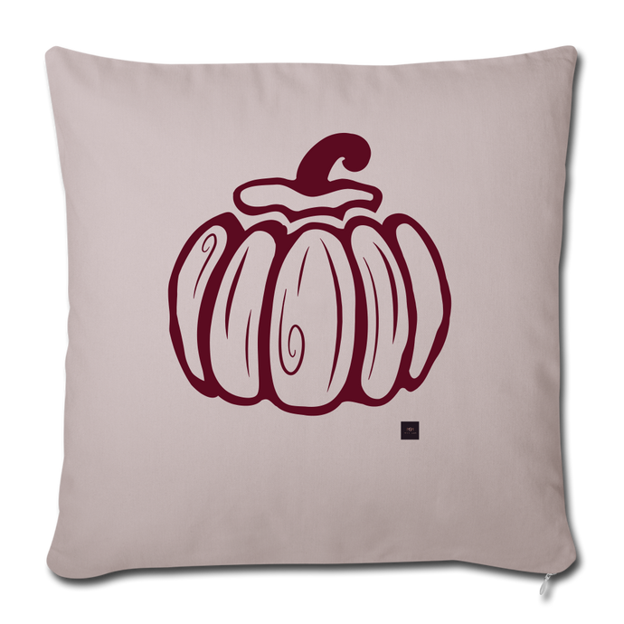 Pumpkin Throw Pillow - light taupe