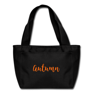 Autumn Lunch Bag - black
