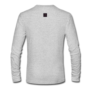 Ghosted Long Sleeve Shirt - heather gray