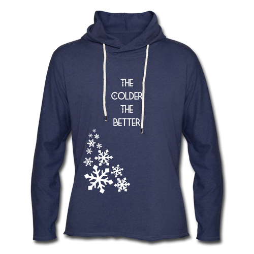 The Colder The Better Hoodie - heather navy