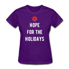 Load image into Gallery viewer, Hope For The Holidays Women's T-Shirt - purple