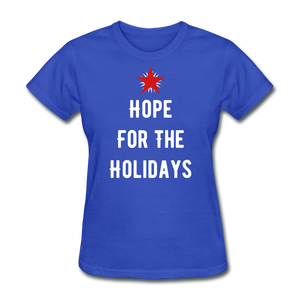 Hope For The Holidays Women's T-Shirt - royal blue