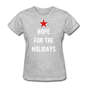 Hope For The Holidays Women's T-Shirt - heather gray