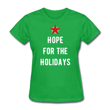 Load image into Gallery viewer, Hope For The Holidays Women's T-Shirt - bright green