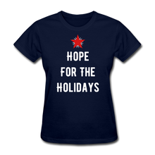 Load image into Gallery viewer, Hope For The Holidays Women's T-Shirt - navy