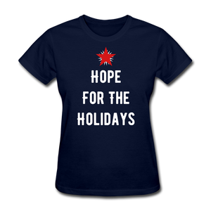 Hope For The Holidays Women's T-Shirt - navy