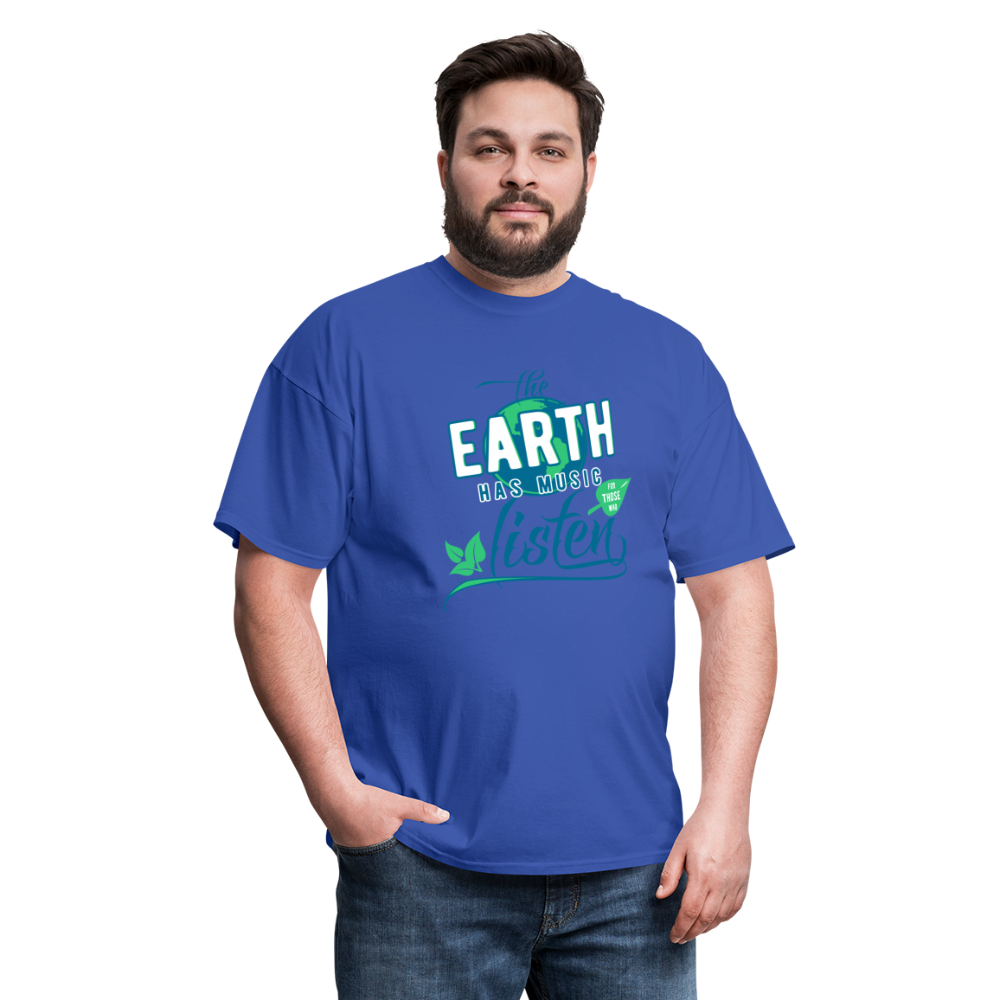 Earth Music T-Shirt - royal blue