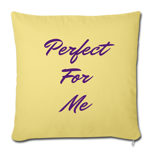 Perfect For Me Pillow - washed yellow