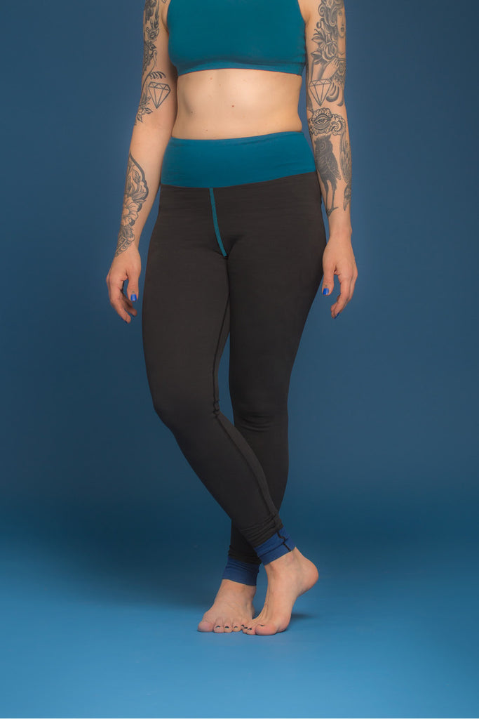 Legging - Essential - Colorblock Aguamarine