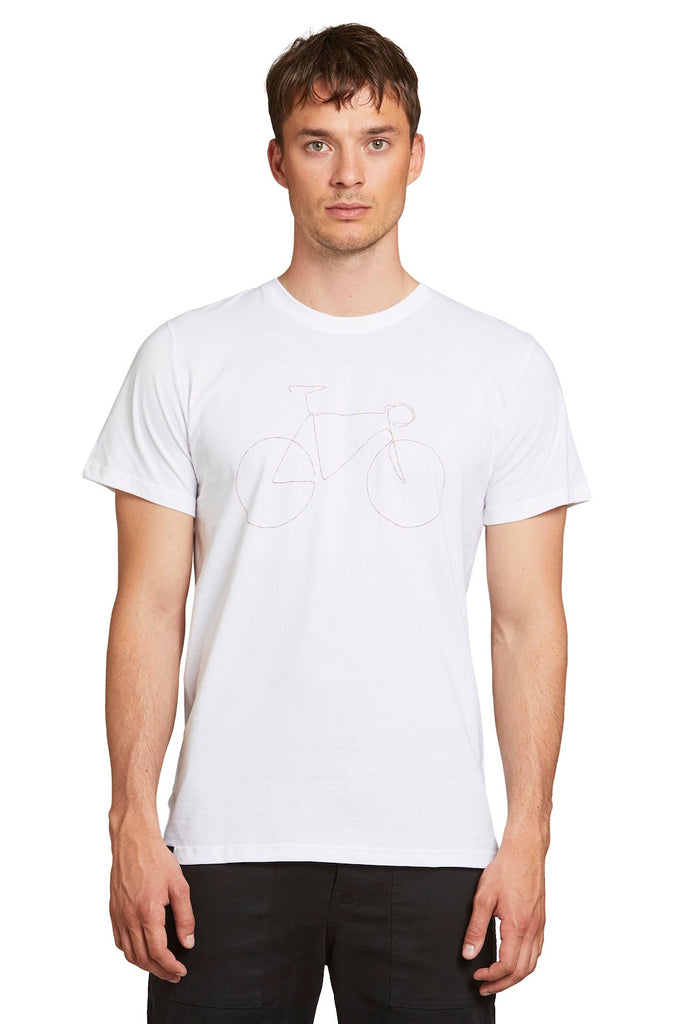 T-Shirt - Stockholm Rainbow Bicycle White - Weiß