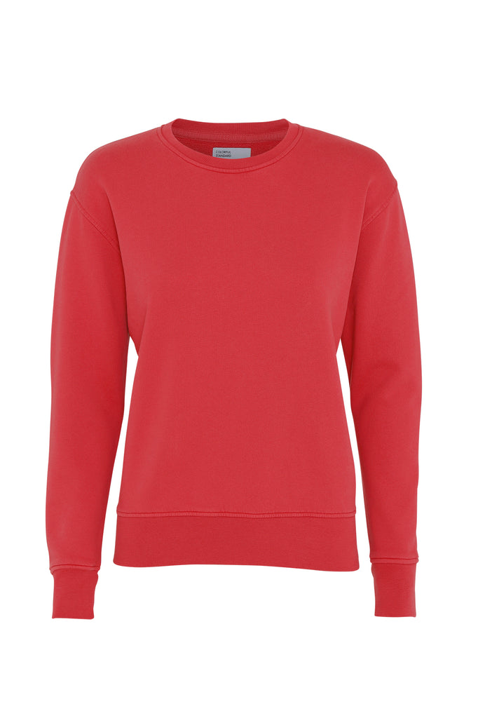 Pullover - Women Classic Organic Crewneck - Scarlet Red