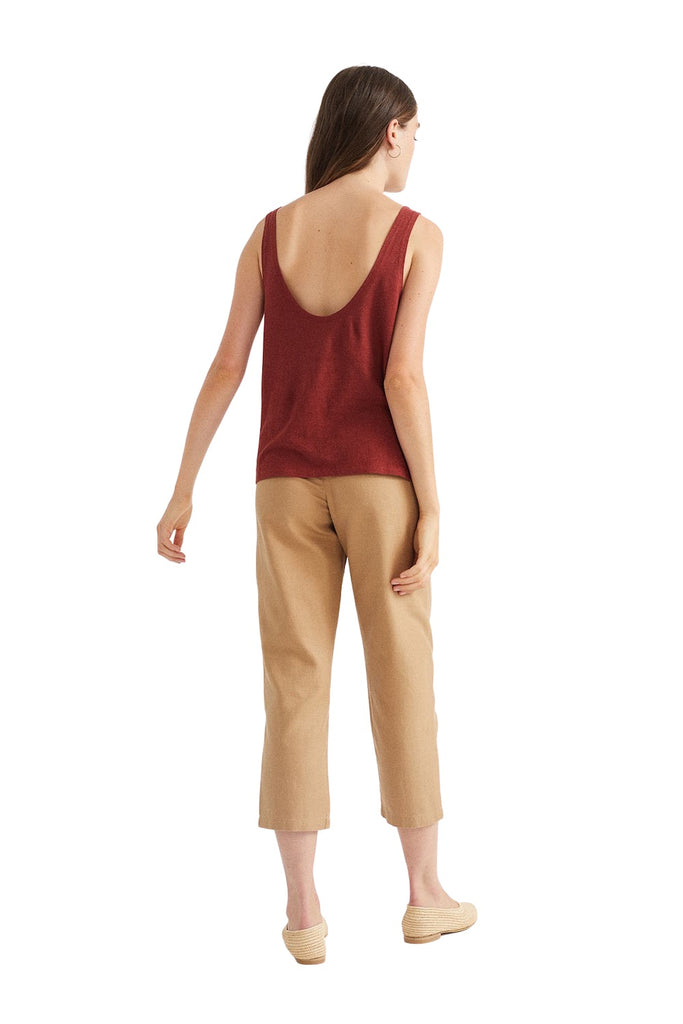 Top - Teja Hemp Tank Top - Rot