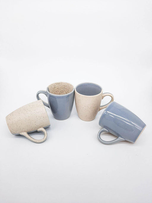 Kypelo Coffee Mug Grey - Set Of 4 - Thevasa